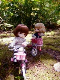 Lalki na rowerkach